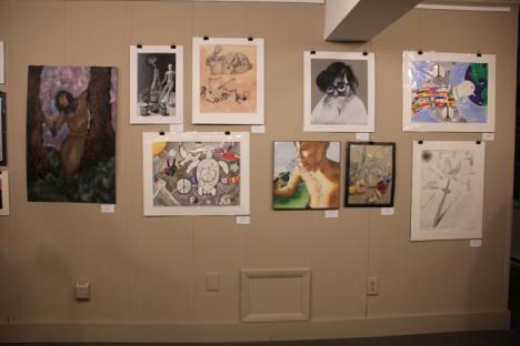 Seven gallery walls were filled with a variety of styles and subjects.