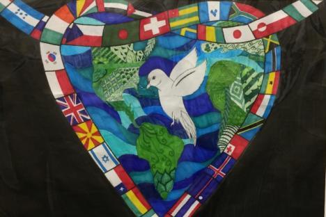 """World of Peace"" by Jocelyn Covaney, Walsingham Academy"