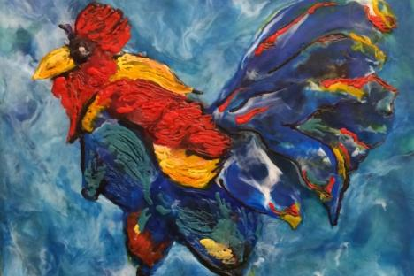 """""""Cock-a-doodle-doo"""" by Annette Thompson"""