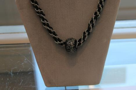 Black and Silver Beaded Necklace by Catherine Bond