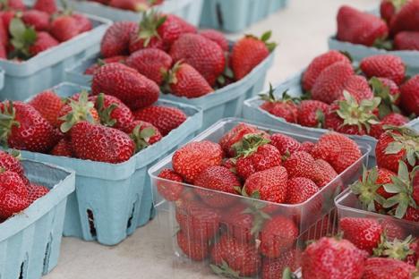 Yummy strawberries