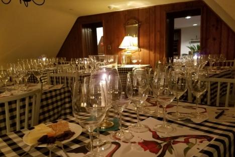 Wine Tasting Class in the upstairs Dining Rooms