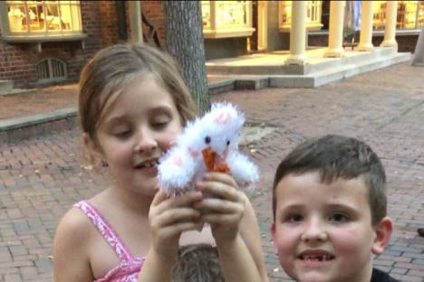 Kids With Ghost Plush