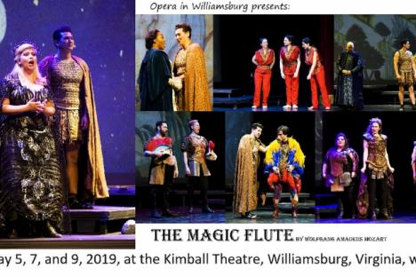 From The Magic Flute by Opera in Williamsburg Virginia, May 2019