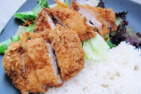 Katsu (fried meat patties. chicken or pork) - Oishii Restaurant