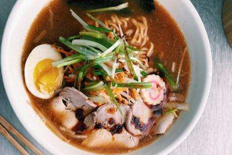 Pork Miso Hot Ramen - © Oishii Restaurant