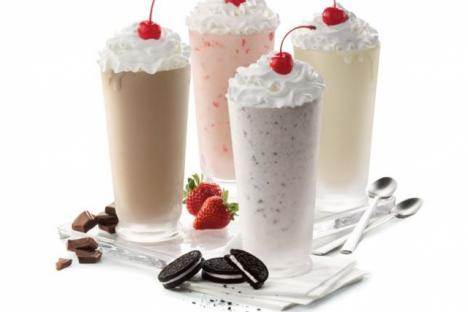 Our creamy Milkshakes are hand-spun the old-fashioned way each time, and feature delicious Chick-fil-A Icedream® topped off with whipped cream and one crucial cherry. Available in Vanilla, Chocolate, Strawberry and Cookies and Cream.
