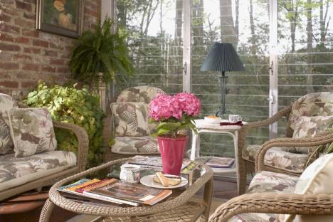 Enjoy a cup of tea or glass of wine in the sunroom